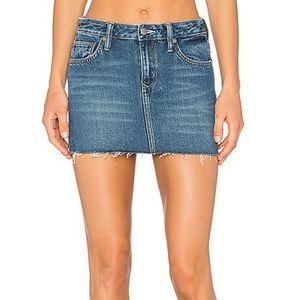 New! Lovers + Friends Alex Denim Mini Skirt